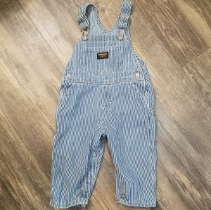 OshKosh B'gosh striped overalls